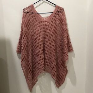 Sweaters - Dusty Pink Knitted Poncho